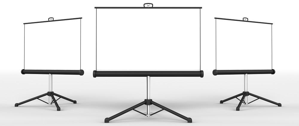 RENTPOINT - wynajem ekranów projekcyjnych (trójnóg, tripod)